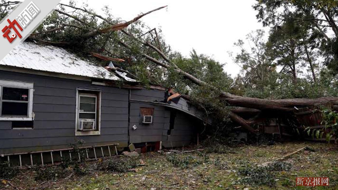 """美遭""""炸弹气旋""""侵袭:大树砸毁房屋?暴风雪肆虐 破坏力巨大!"""